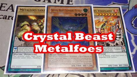 crystal beast metalfoes yugioh deck profile 2016 youtube