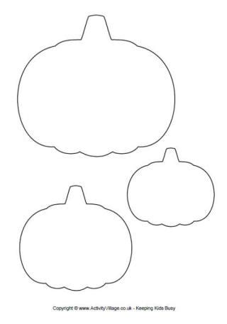 pumpkin shape template templates