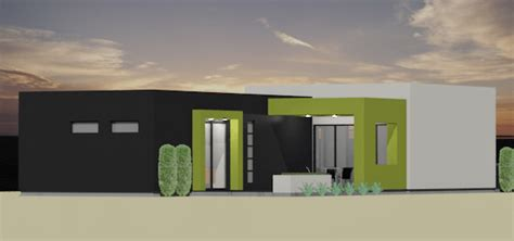 Modern 2 Bedroom House Plan 61custom Contemporary