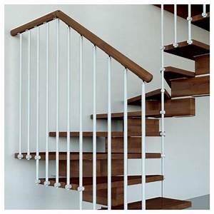 Escalier Bois Quart Tournant : escalier aerien moderne deux quart tournant ~ Farleysfitness.com Idées de Décoration