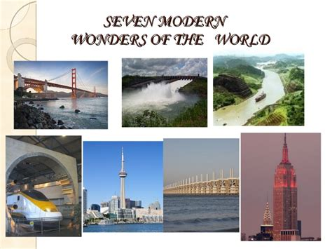 7 modern wonders of the world presentation