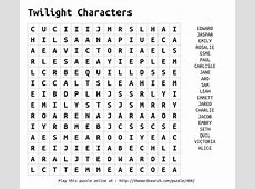 Download Word Search on Twilight Characters
