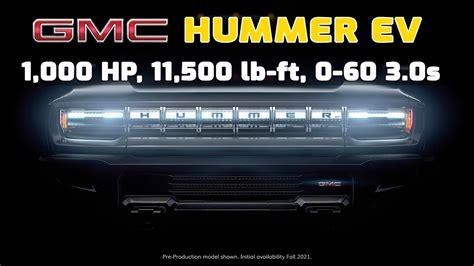 gmc hummer ev teased coming   youtube