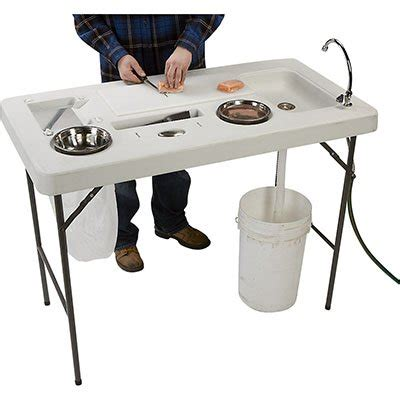 portable cing sink table portable fish game cleaning station sink men fishing