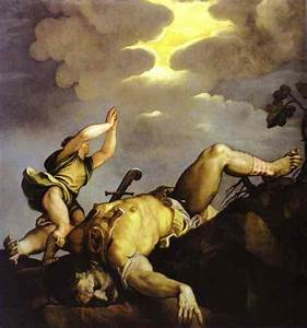 David and Goliath by Titian - ArtinthePicture.com