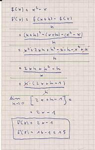 1 Ableitung Berechnen : tangentensteigung mit der h methode berechnen mathelounge ~ Themetempest.com Abrechnung
