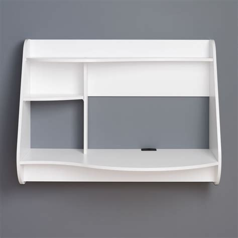 white wall mounted desk hollywood style vanity table floating make up makeup wall