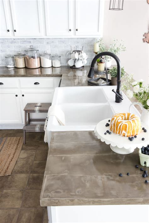 glass tile backsplash ideas modern farmhouse kitchen makeover reveal bless 39 er house