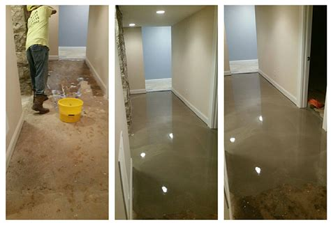 uneven basement floor that was self leveled leveling a