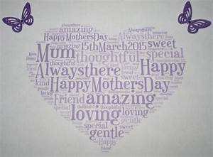 Cadbury Stock Chart Mothers Day Word Art Gift Heart Butterfly Print Personalised