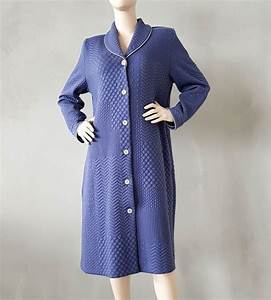 robe de chambre boutonnee femme 3 bleu lingerie sipp With robe de chambre boutonnée femme