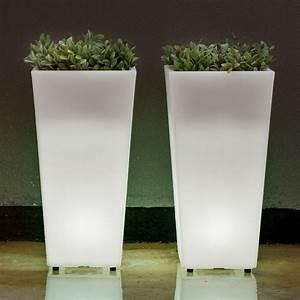 Pot Fleur Lumineux : pot lumineux solaire melisa 30 pot de fleur lumineux solairepratique ~ Nature-et-papiers.com Idées de Décoration