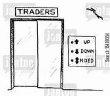 Elevator Cartoons Cartoon Lift Elevators Jantoo Down Humor Funny Traders Mixed Wall Trading Market Dislike Street sketch template