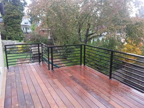 modern horizontal deck railing  furniture