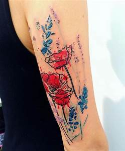 Tattoo Blumenranke Arm : tattoos blumen frau mit gro em mohnblumen tattoo am arm tattoos pinterest tattoo ~ Frokenaadalensverden.com Haus und Dekorationen