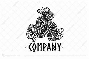 Three Snakes In The Viking Style Logo