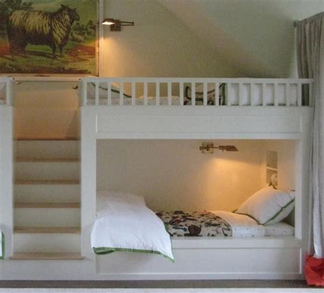 white built  bunk bed plans bunkbeds design ideas