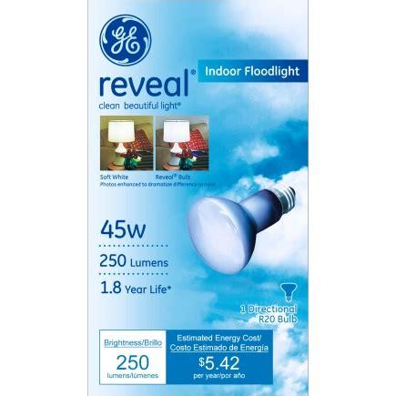 ge  reveal  reflector floodlight light bulb   pack