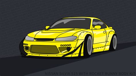 Nissan March 4k Wallpapers by Nissan S15 Wallpaper 4k Rocket Bunny Yellow By
