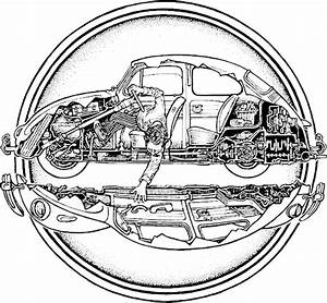 Illustration By Peter Aschwanden From John Muir U2019s How To Keep Your Volkswagen Alive  A Manual Of