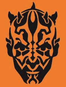 Darth Maul Pumpkin diy star wars pumpkin stencils starwars com