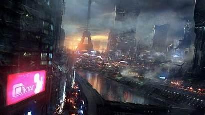 Future Wallpapers Night Lights Resolution Futuristic Cities