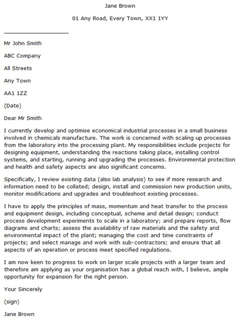 It Cover Letter Exles by Process Engineer Cover Letter Exle Learnist Org