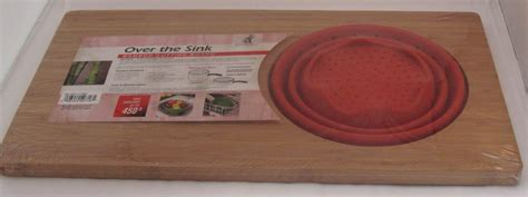 Over The Sink Cutting Board Vibrant Red 18 Inch Island