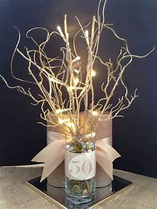 Anniversary 50th final centerpiece mom dads 50th for 50th wedding anniversary centerpieces