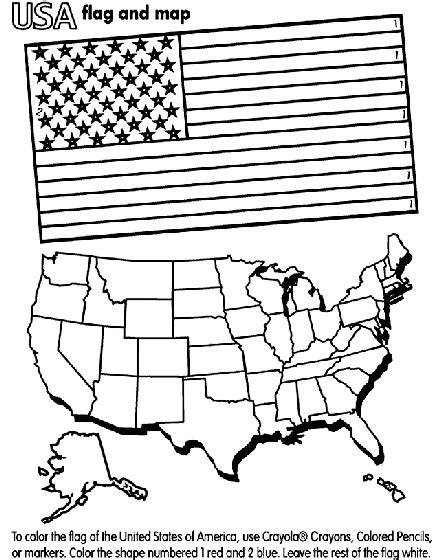 united states  america coloring page fourth  july