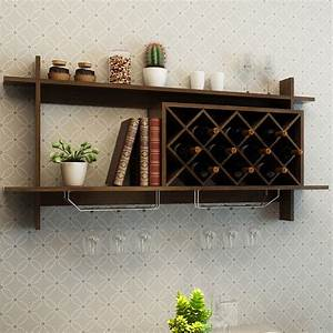 Wall, Mount, Wine, Rack, With, Glass, Holder, U0026, Storage, Shelf, U2013, By, Choice, Products