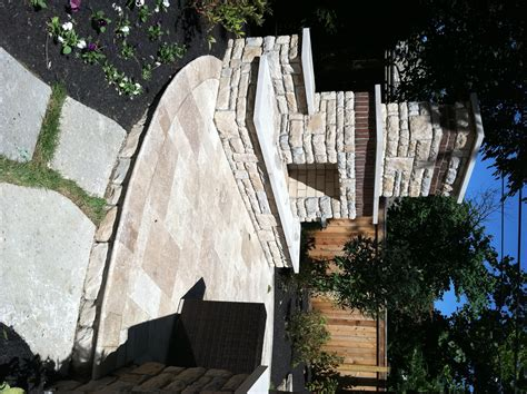 travertine patio installation in dayton and