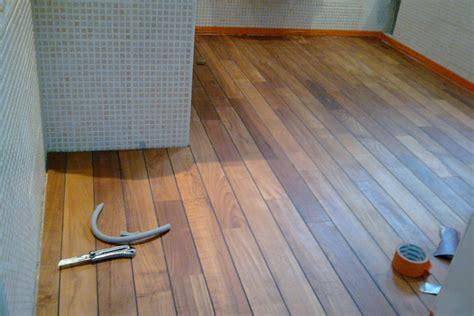 plancher teck salle de bain parquet de salle de bain en teck murviel les b 233 ziers les r 233 alisations de la menuiserie loubet