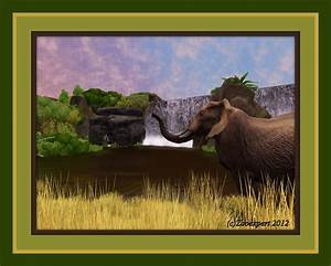 Zoo Tycoon 2 Elephant Near The Exotic Waterfall By