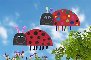 Bastelideen Sommer Kindergarten : bunte marienk fer basteln mit kindern kita ~ Frokenaadalensverden.com Haus und Dekorationen