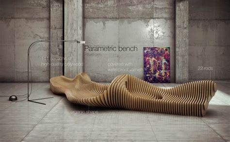 parametric bench interior design  oleg soroko