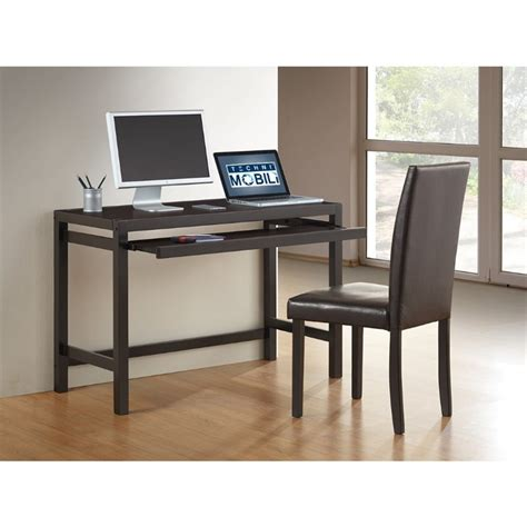 Techni Mobili Matching Desk With Keyboard Panel And Chair