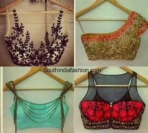 Contrast Blouse Back Neck Design 30 Latest Fashionable Blouse Designs For Modern Women