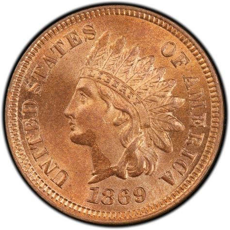 indian pennies 1869 indian head pennies values and prices past sales coinvalues com