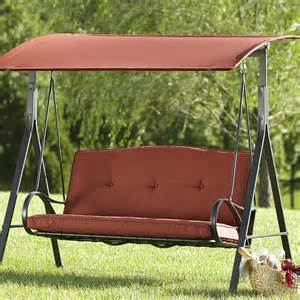 grand resort oak hill 3 person swing outdoor living