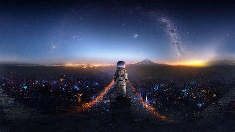 anime hd wallpaper deviantart astronaut creative artwork deviantart hd artist 4k