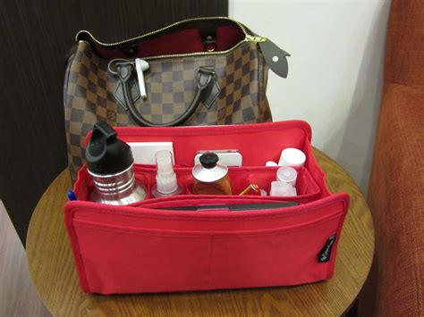 purse organizer insert  louis vuitton speedy  damier ebene photo cloversac