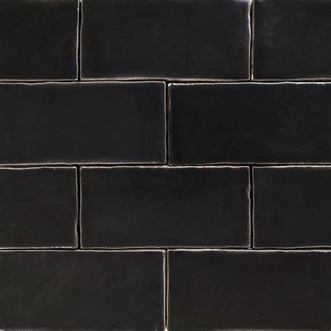 Handmade Black Matt Natura Wall Subway Tiles 130×65 In