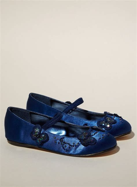 blue flower girl shoes wedding stuff white flower