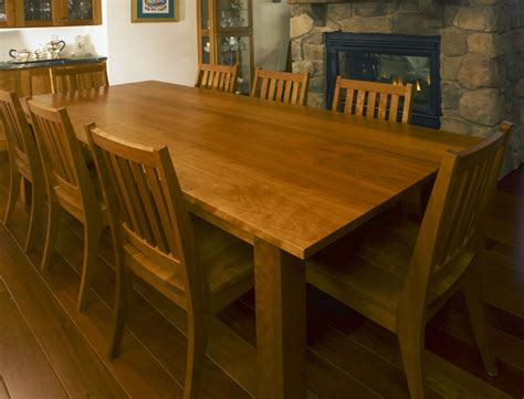 table co made custom cherry dining table and chairs by kinion furniture company custommade