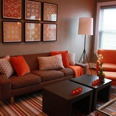 brown living room ideas living room brown and orange design pictures remodel