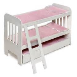 badger basket doll bunk bed with ladder and trundle fits