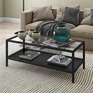 Evelyn, U0026zoe, Contemporary, Metal, Coffee, Table, With, Glass, Top, -, Walmart, Com