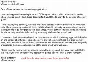 security guard job application letter example learnistorg With application letter for security job