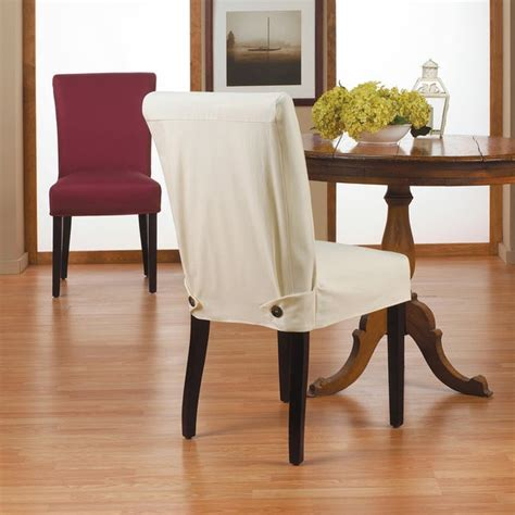 duck short relaxed fit dining chair slipcover  buttons